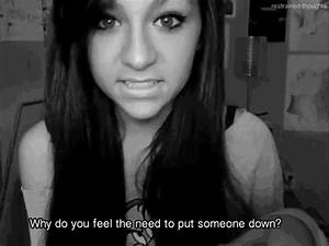 pain bullying andrea russett words hurt sleeping-without ...