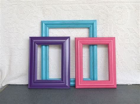turquoise pink purple frames  glass set