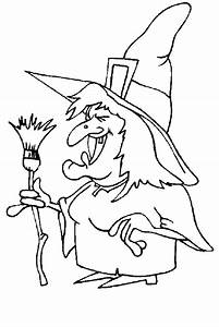 Free coloring pages of witches halloween