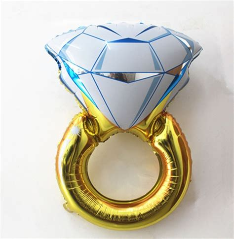 Balon Ring engagement ring balloon the hen planner