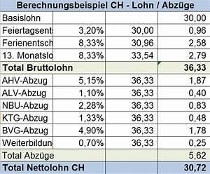 Steuern Berechnen Lohn : informationsbrosch re ber das arbeiten in der schweiz arbeit schweiz ~ Themetempest.com Abrechnung