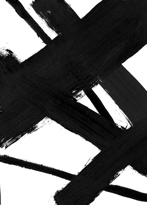Abstract Black And White Wall by Brushstroke Wall Black Black And White Abstract