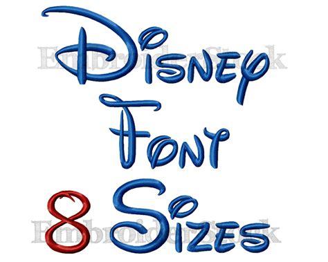 Walt Disney Font Machine Embroidery Design Alphbet Disney