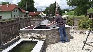 Rolladenkasten Abdeckung Holz : abdeckung hochteich klappdach selbst gebaut diy youtube ~ Yasmunasinghe.com Haus und Dekorationen