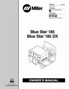Miller Electric 185 Dx Owner S Manual