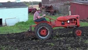 Allis Chalmers  U0026quot Ca U0026quot  Using Field Cultivator