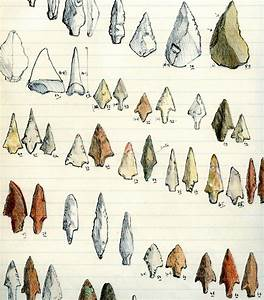 Drawings of flint arrow-heads collected by General Pitt ...