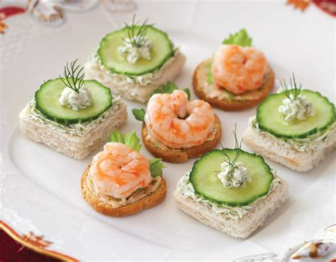 summer canapes cucumber dill canapés recipe
