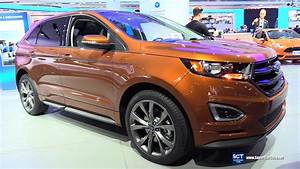 Ford Edge 2017 : 2017 ford edge sport awd exterior and interior walkaround 2017 detroit auto show youtube ~ Medecine-chirurgie-esthetiques.com Avis de Voitures