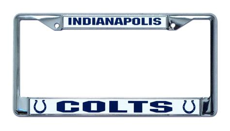 Indianapolis Colts License Plate Frame Holder
