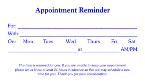 appointment cards template authorization letter