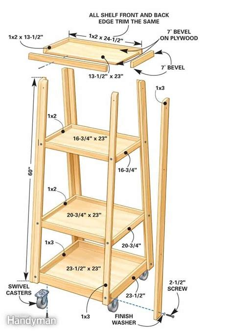 rolling clamp rack woodworking projects plans