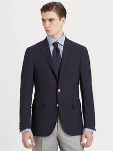 Lyst - Polo Ralph Lauren Customfit Wool Blazer in Blue for Men