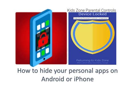 hide  personal apps  android  iphone