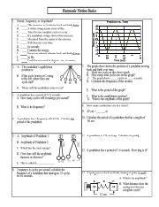 Harmonicmotionbasicswspdf  Harmonic Motion Basics