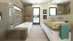 interieur maison en bois salle de bain With interieur salle de bain moderne