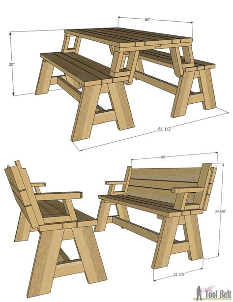 free folding picnic table bench plans pdf folding picnic table plans free 11emerue