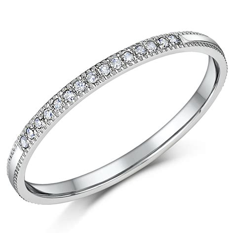 1 5mm palladium eternity wedding rings palladium