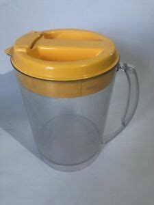 Pitcher is in excellent unused condition. Mr. Coffee Clear 3 Quart Iced Tea Pot TM3.5 Replacement Pitcher Yellow Lid CLEAN   eBay