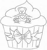 Cupcake Tegninger Enkle Bear Og Cupcakes Fine Tegning Hobbyblogg Brit Colouring Coloring Freebie Maybritshobbyblogg Sheets Adults Dyr Kort Februar Guardado sketch template