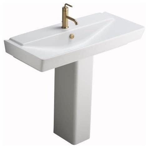 kohler reve pedestal sink kohler k 5149 1 hw1 reve 39 quot pedestal lavatory in honed