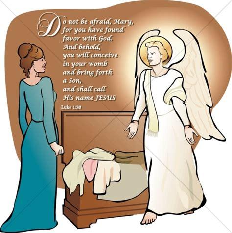 mary listens   angel gabriel nativity word art