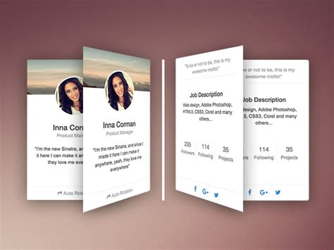 rotating css card cards snippet  creative tim