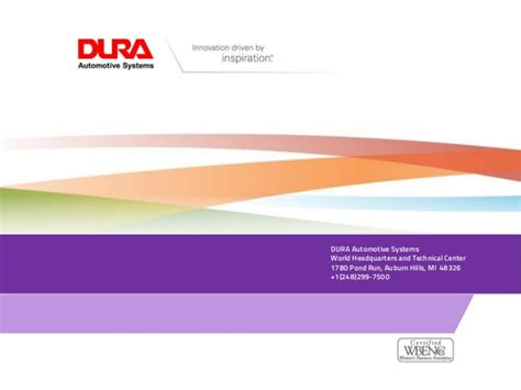 Dura Automotive Systems Profile