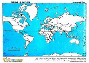 Kids Science Projects - World Political Map Free Download