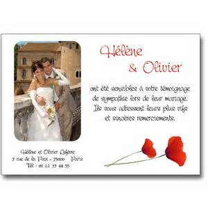 remerciements invitation mariage remerciement mariage coquelicots lutin faire part