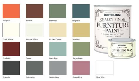 rust oleum chalk chalky colour chart remake furniture