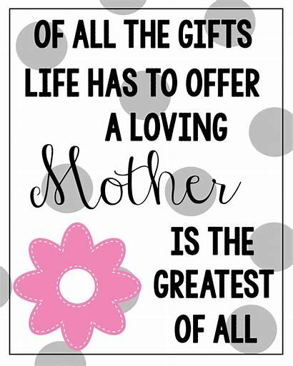 Mothers Quotes Cards Printable Mother Quote Sayings