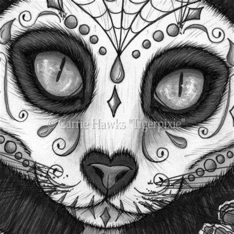 le canvas day   dead cat skull cats art