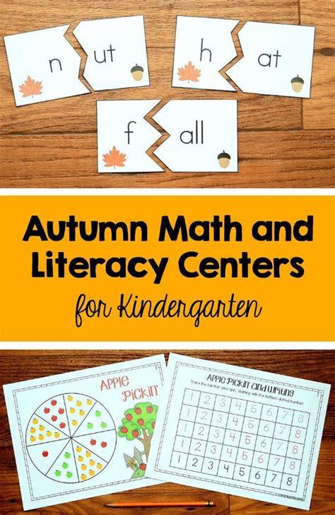 fall literacy activities for preschool fall centers for kindergarten math and literacy bundle 937