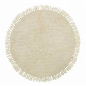 bloomingville tapis rond laine coton 110 cm tapis With tapis rond coton