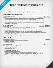 Help Desk Support Resume Template by Help Desk Resume Resumecompanion Resume Sles