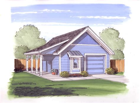 Garage Plans With Porch by Garage Style Garage With Car 0 Bedroom 572 Sq Ft Floor