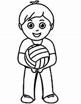 Volleyball Coloring Pages Printable Onlinecoloringpages sketch template