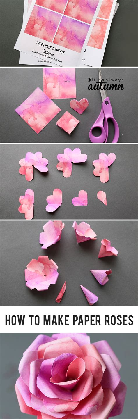 tissue paper rose template make gorgeous paper roses with this free paper rose
