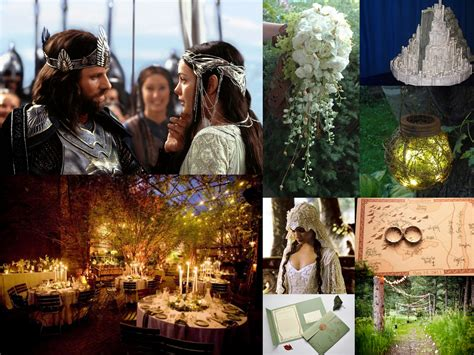 lord of the rings wedding inspiration fantastical