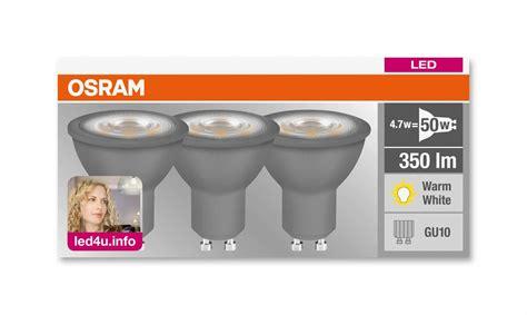 osram led gu light bulb    pack led