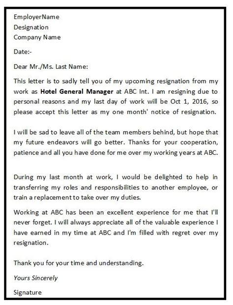best 25 standard resignation letter ideas on
