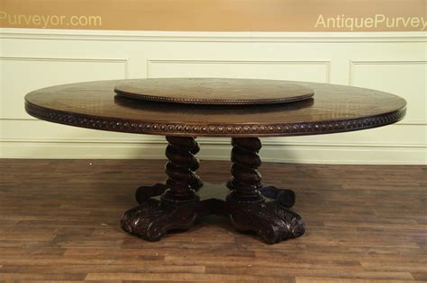 large round table large round walnut dining table rustic casual finish
