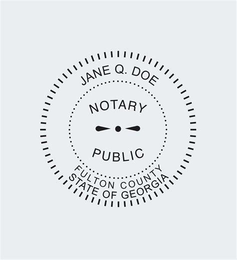 georgia notary seals nna