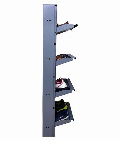 Shoe Rack Mounted Clever Shelves Wide Grey