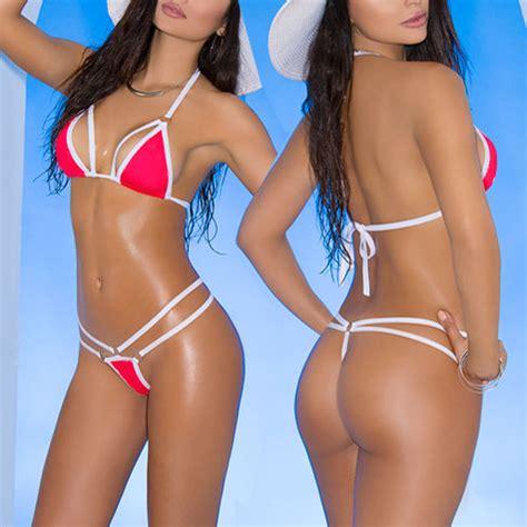 Sexy Triangle Bikini Top And G String Bikini Bottom Women S
