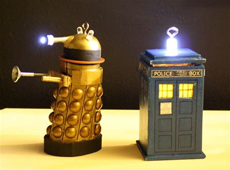 diy doctor who ornaments for crafty time and technabob