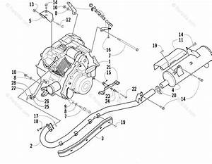 Arctic Cat Atv 2003 Oem Parts Diagram For Engine And Exhaust