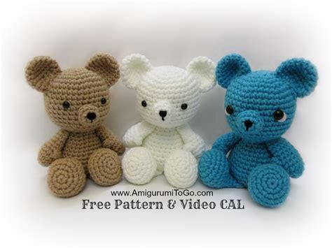 crochet teddy crochet teddy bear written pattern and video amigurumi to go