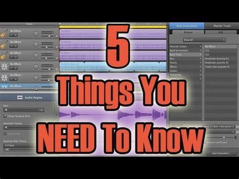 garage band tutorial garageband tutorial for beginners 5 things you need to